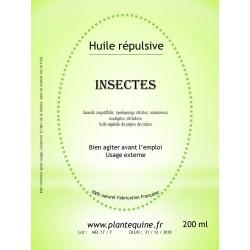 Huile répulsive Insectes