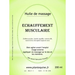 Huile échauffement musculaire